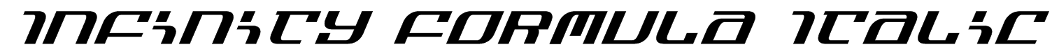 Infinity Formula Italic Font