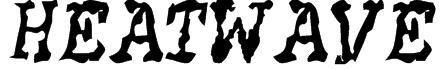 HEATWAVE Font