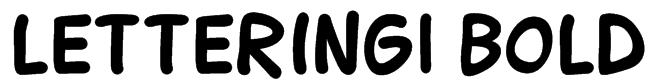 Lettering1 Bold Font