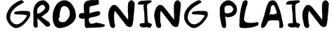 Groening Plain Font