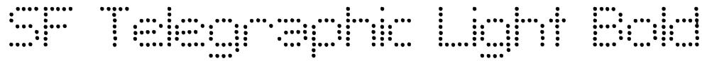 SF Telegraphic Light Bold Font