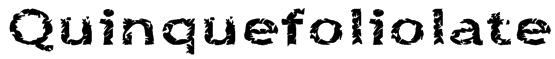 Quinquefoliolate Font