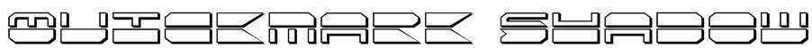 Quickmark Shadow Font