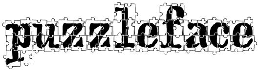 puzzleface Font