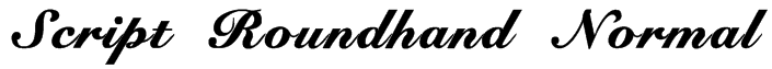 Script Roundhand Normal Font