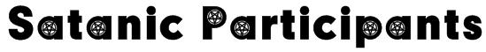 Satanic Participants Font
