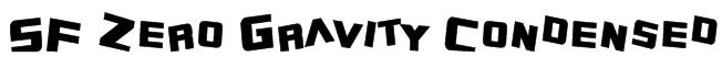 SF Zero Gravity Condensed Font