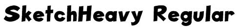 SketchHeavy Regular Font