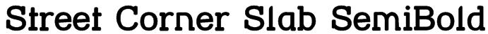 Street Corner Slab SemiBold Font