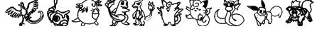 Tyler's Pokemon Font