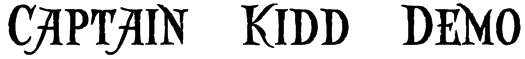 Captain Kidd Demo Font