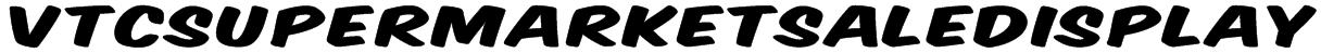 VTCSuperMarketSaleDisplay Font