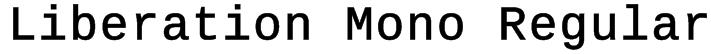 Liberation Mono Regular Font