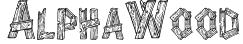 AlphaWood Font
