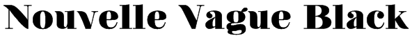 Nouvelle Vague Black Font