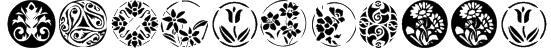 KR Fleurish Circle Font