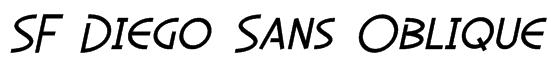 SF Diego Sans Oblique Font
