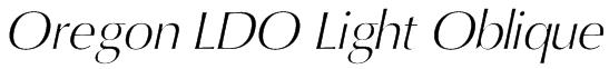 Oregon LDO Light Oblique Font