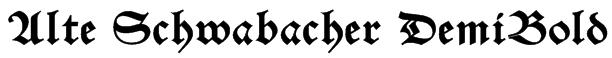 Alte Schwabacher DemiBold Font
