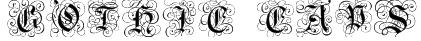 Gothic Caps Font