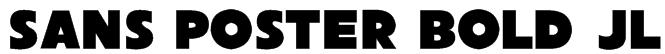 Sans Poster Bold JL Font