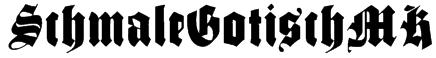 SchmaleGotischMK Font