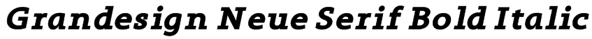 Grandesign Neue Serif Bold Italic Font