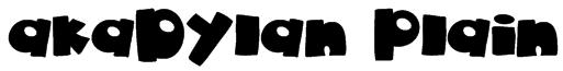 akaDylan Plain Font