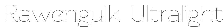 Rawengulk Ultralight Font