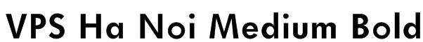 VPS Ha Noi Medium Bold Font