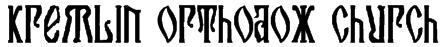 Kremlin Orthodox Church Font