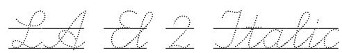 LA El 2 Italic Font