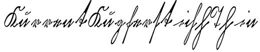 KurrentKupferstichThin Font