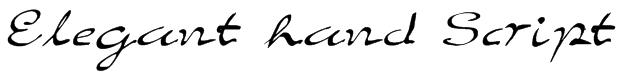 Elegant hand Script Font