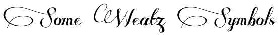 Some Weatz Symbols Font