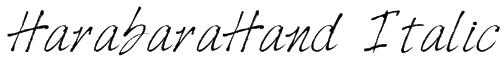 HarabaraHand Italic Font