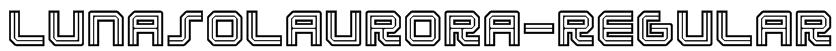 LunasolAurora-Regular Font