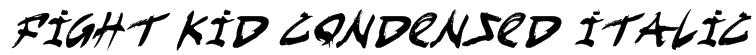 Fight Kid Condensed Italic Font