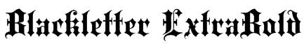 Blackletter ExtraBold Font