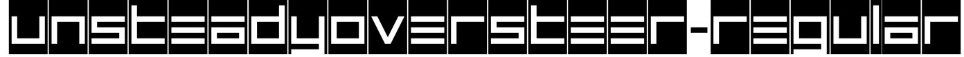 UnsteadyOversteer-Regular Font