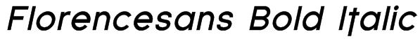 Florencesans Bold Italic Font