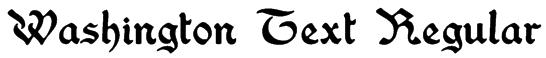 Washington Text Regular Font