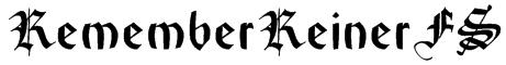 RememberReinerFS Font