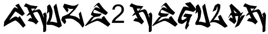 CRUZE2 Regular Font