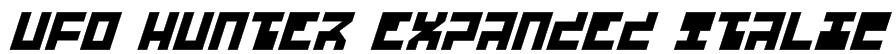 UFO Hunter Expanded Italic Font