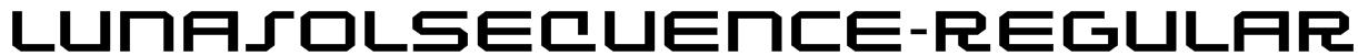 LunasolSequence-Regular Font
