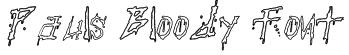 Pauls Bloody Font Font