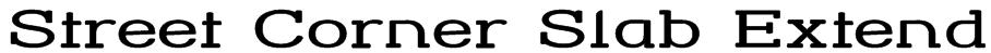 Street Corner Slab Extend Font