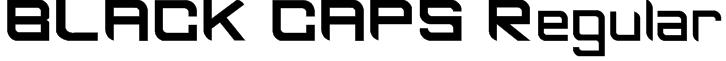 BLACK CAPS Regular Font