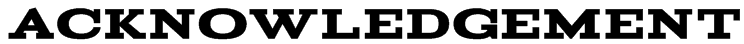 Acknowledgement Font